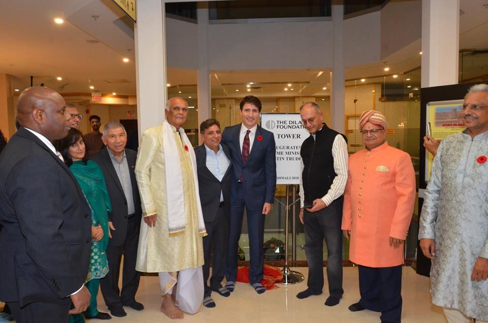 Vishnu Mandir Diwali with Hon.Prime Minister Justin Trudeau 2018
