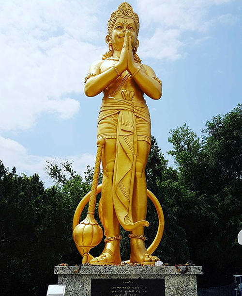 50 ft golden Lord Hanuman idol