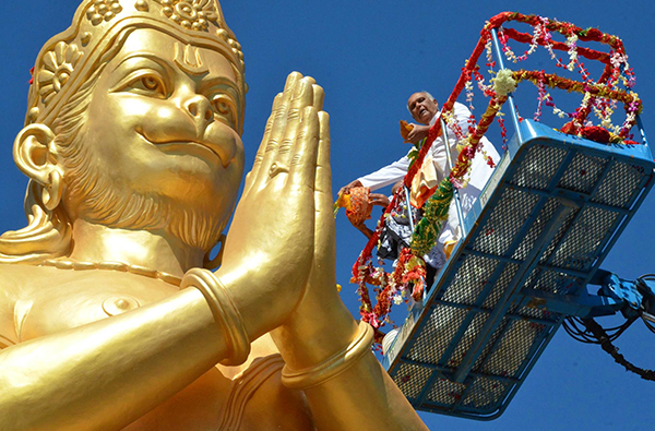 Abishek to Hanumanji