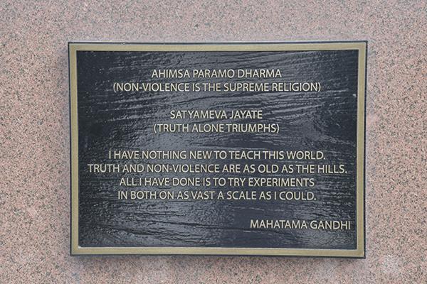 Foundation Stone - Ahimsa Parmo Dharma
