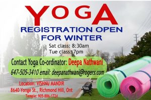 Yoga Registration open for Winter