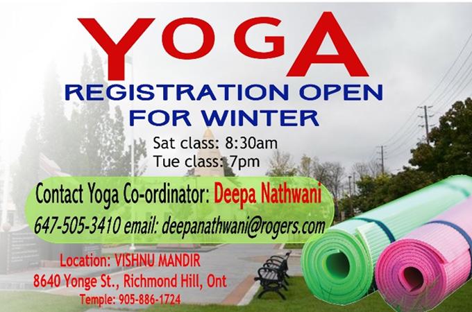 Yoga Registration open for Winter