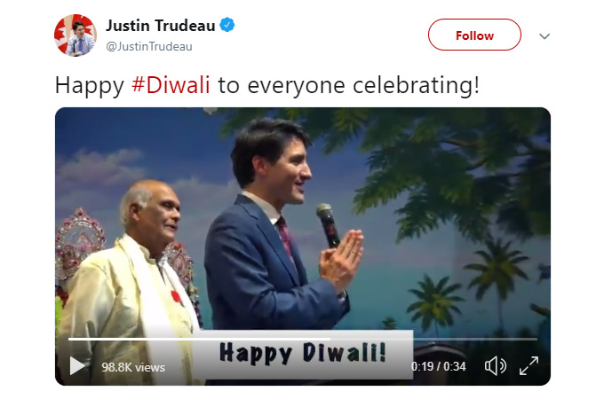 Justin Trudeau visited Vishnu Temple