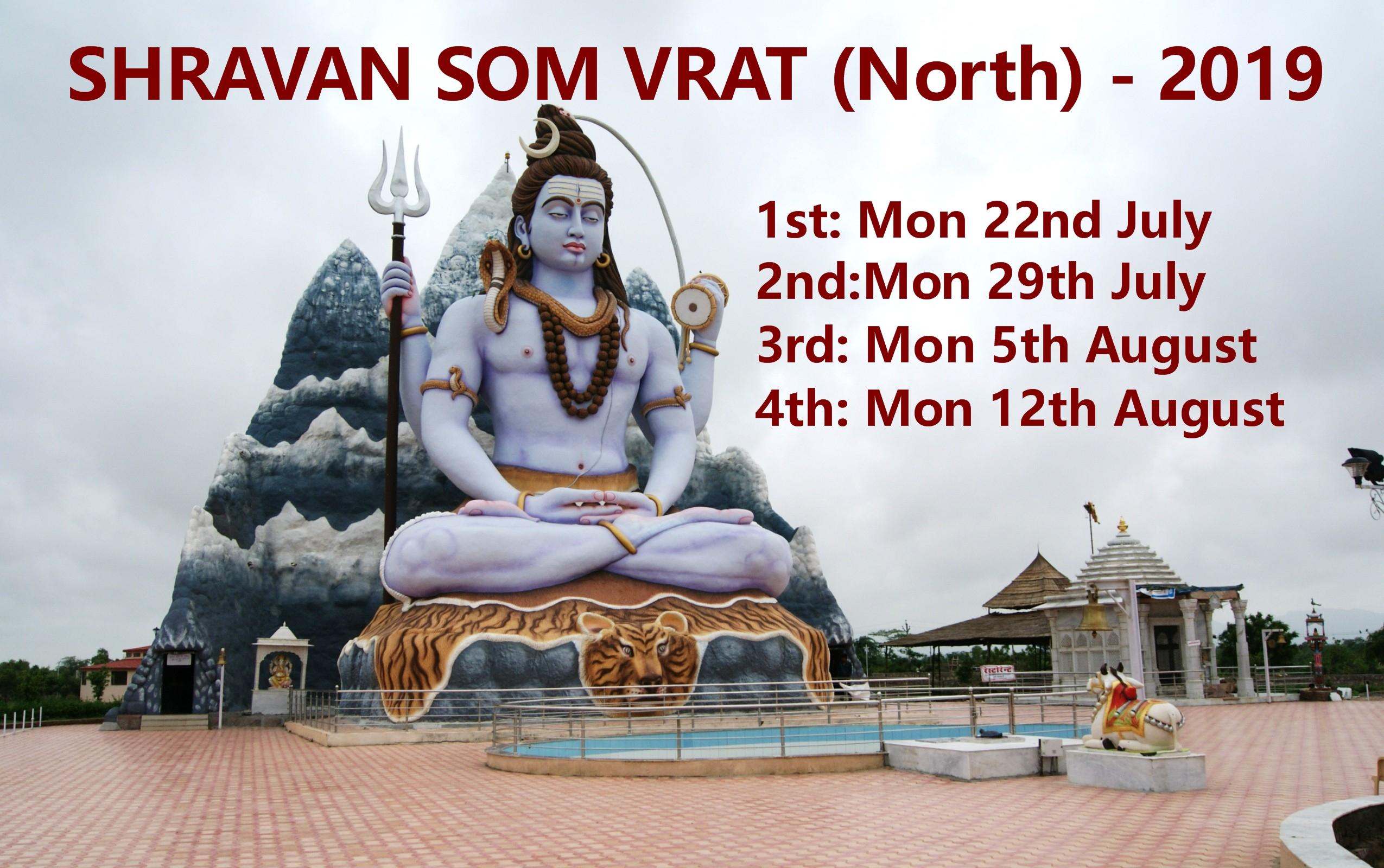 SHRAVAN SOM VRAT (NORTH) - MON AUG 22, 29 - Vishnu Mandir