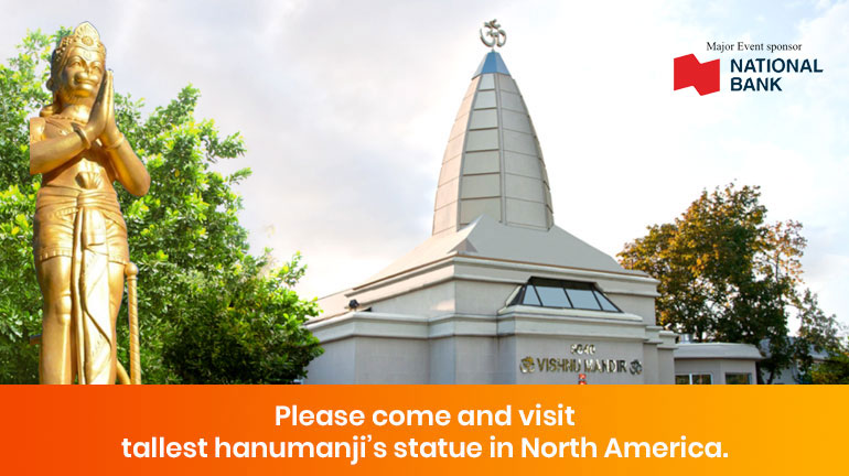Please come and visit tallest Hanumanji's statue in North America
